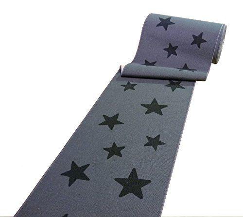 Amazon De Moderner Laufer Teppich Brucke Teppichlaufer Sterne Grau