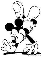 Gambar Mickey Mouse Untuk Diwarnai Anak Sd Mewarnai Gambar