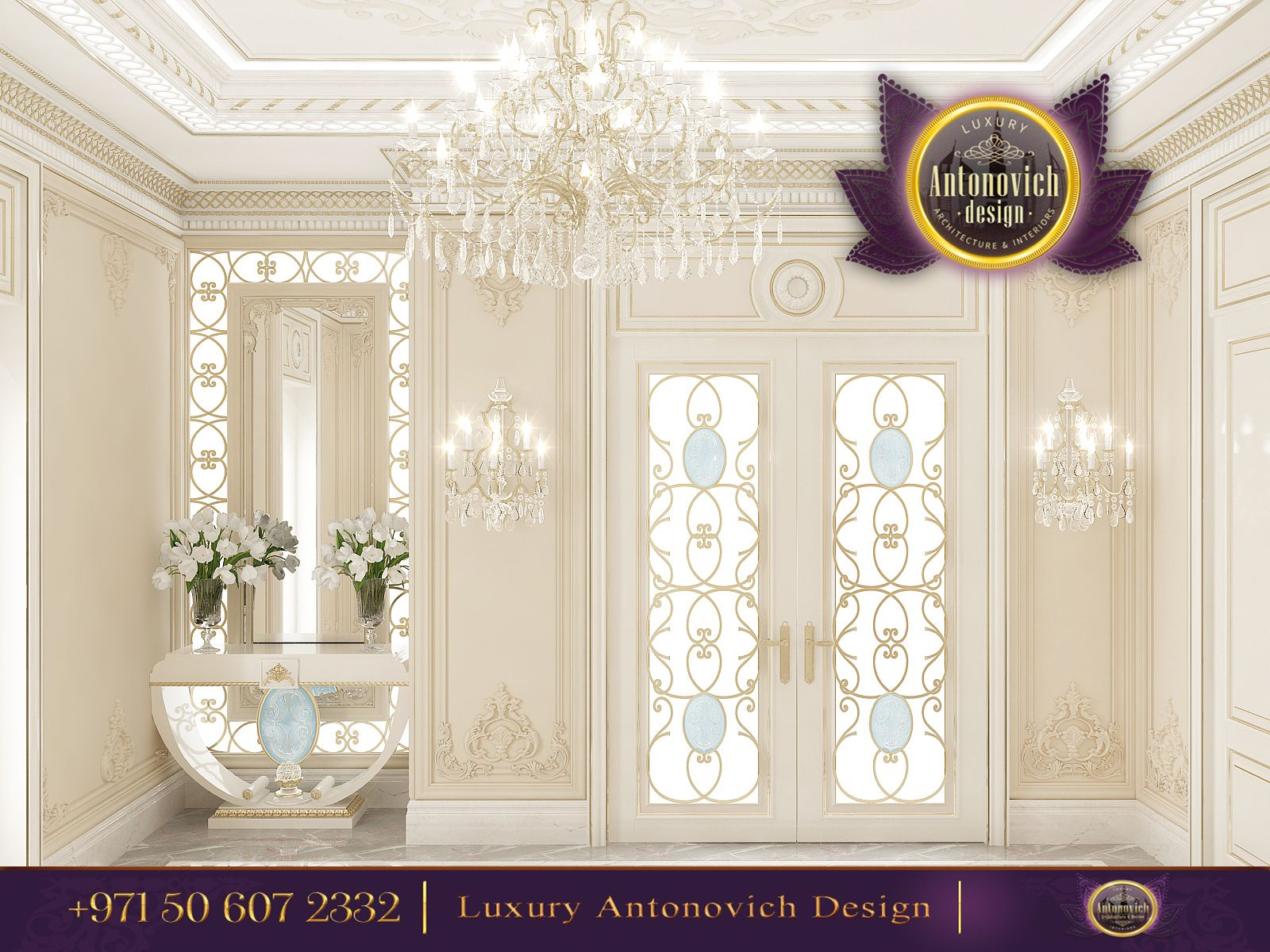 Beautiful dressing room design in dubai by luxury antonovich design - Royal White Glam In An Open Concept By Luxury Antonovich Design Would You Love To