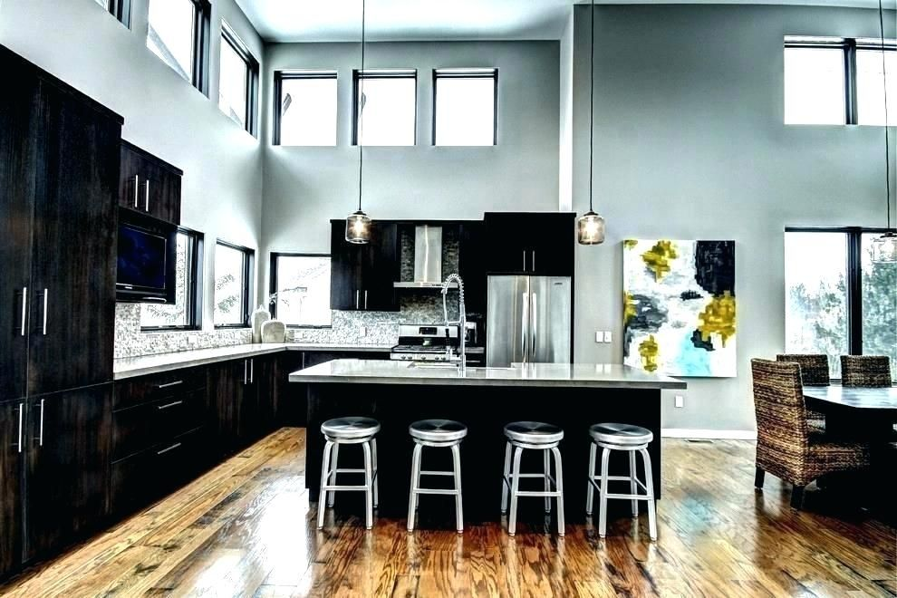 Brown Kitchen Walls Gray Kitchen Walls Brown Cabinets With Gray Walls Dark Brown Kitchen Cabinets W Grey Kitchen Walls Black And Grey Kitchen Grey Blue Kitchen