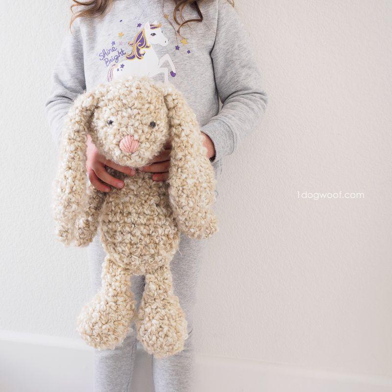 Classic Stuffed Bunny Crochet Pattern for Easter | Tejido, Ponchos y ...
