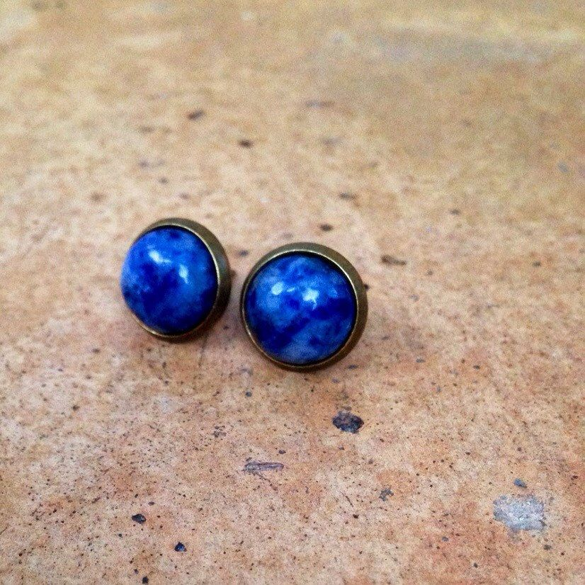 blue in female opal color stone earrings men item stud earring ear jewellery natural brincos jewelry trendy party for from steel surgical