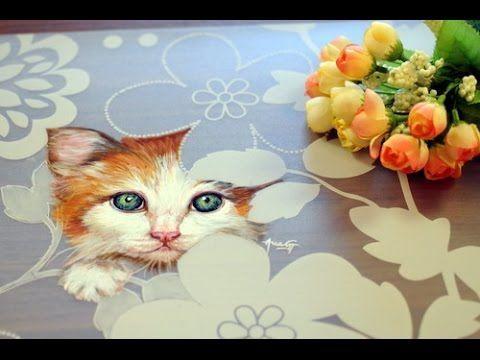 Como Pintar Un Gato Individual Para Mesa Esmaltes Acrilicos Ana Gjurinovich Youtube Videos De Pintura Pintura Y Dibujo Flores Pintadas