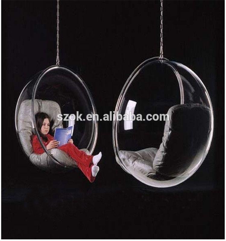 Nouvelle Arrivee Haute Transparent Acrylique Suspendue Chaise Oeuf Pour La Decoration Interieure Image Fauteuil Bulle Fauteuil Contemporain Chaises Pivotantes