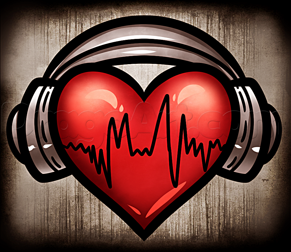 Gallery How To Draw Heart Headphones, Step by Step, Drawing Guide, by Dawn is free HD wallpaper.
