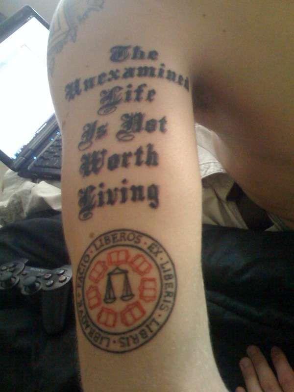 Socrates Philosophy Tattoos Tattoos Tattoo Quotes