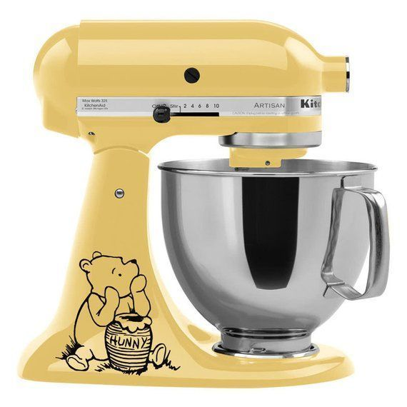 Winnie the Pooh mixer decal - Kitchenaid mixer decals - Classic Pooh - stand mixer sticker - mixer decoration - Disney kitchen decal #disneykitchen A great way to decorate and add a unique touch to your mixer! Youll receive 2 decals, one for each side of your mixer! Our vinyl decals are matte finish and look hand painted on your mixer! Perfect for decorating, decals apply easily and last for years! Easily removable without #disneykitchen Winnie the Pooh mixer decal - Kitchenaid mixer decals - Cl #disneykitchen