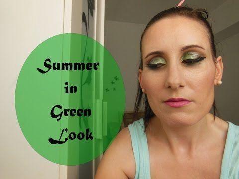 Maquillaje en tonos verdes para ojos marrones paso a paso