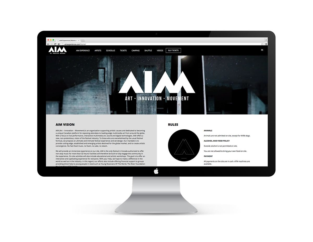 AIM electronic music festival Montreal on Behance