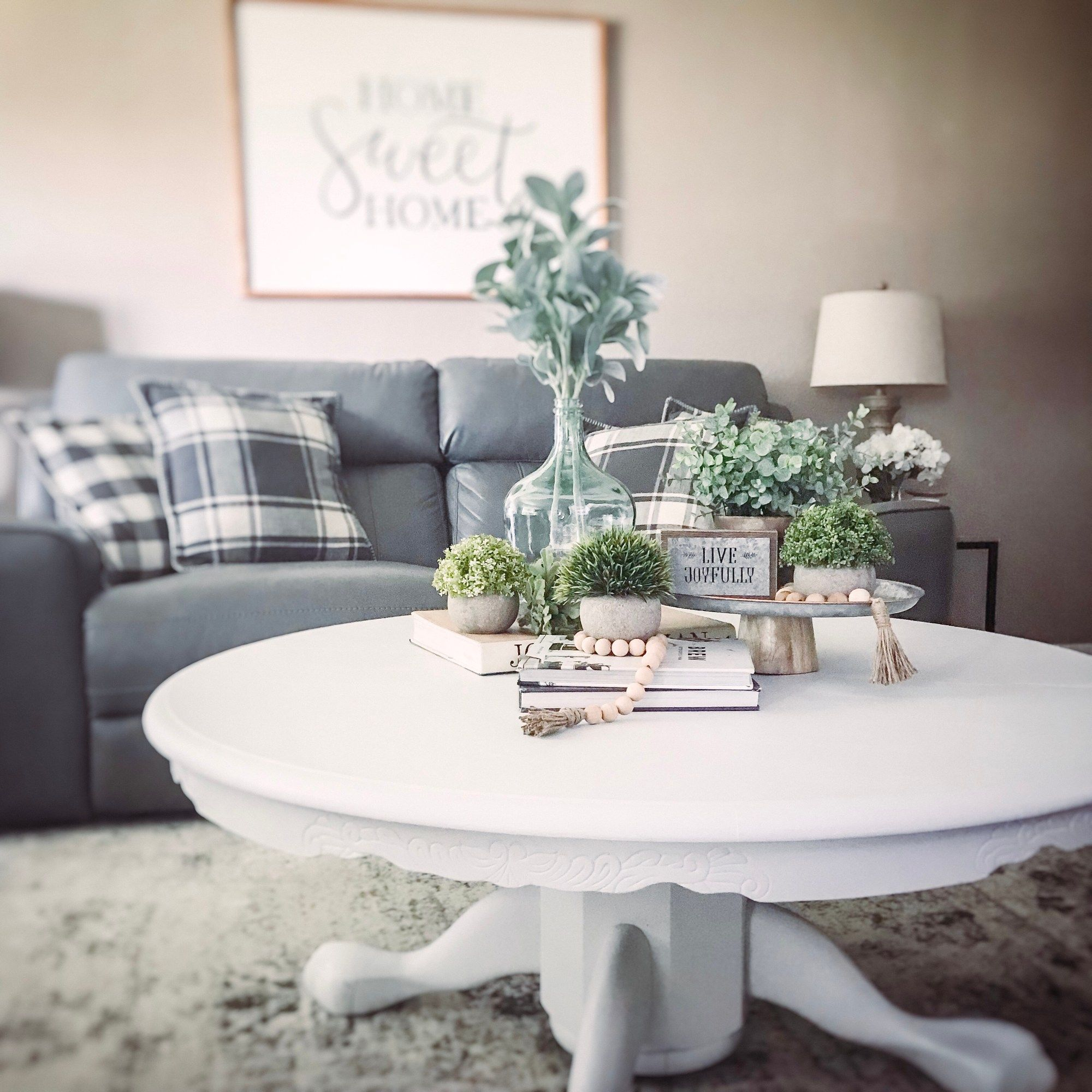 How To Convert A Pedestal Table Into A Coffee Table Embracing The Chaos Round Coffee Table Living Room Pedestal Coffee Table Coffee Table