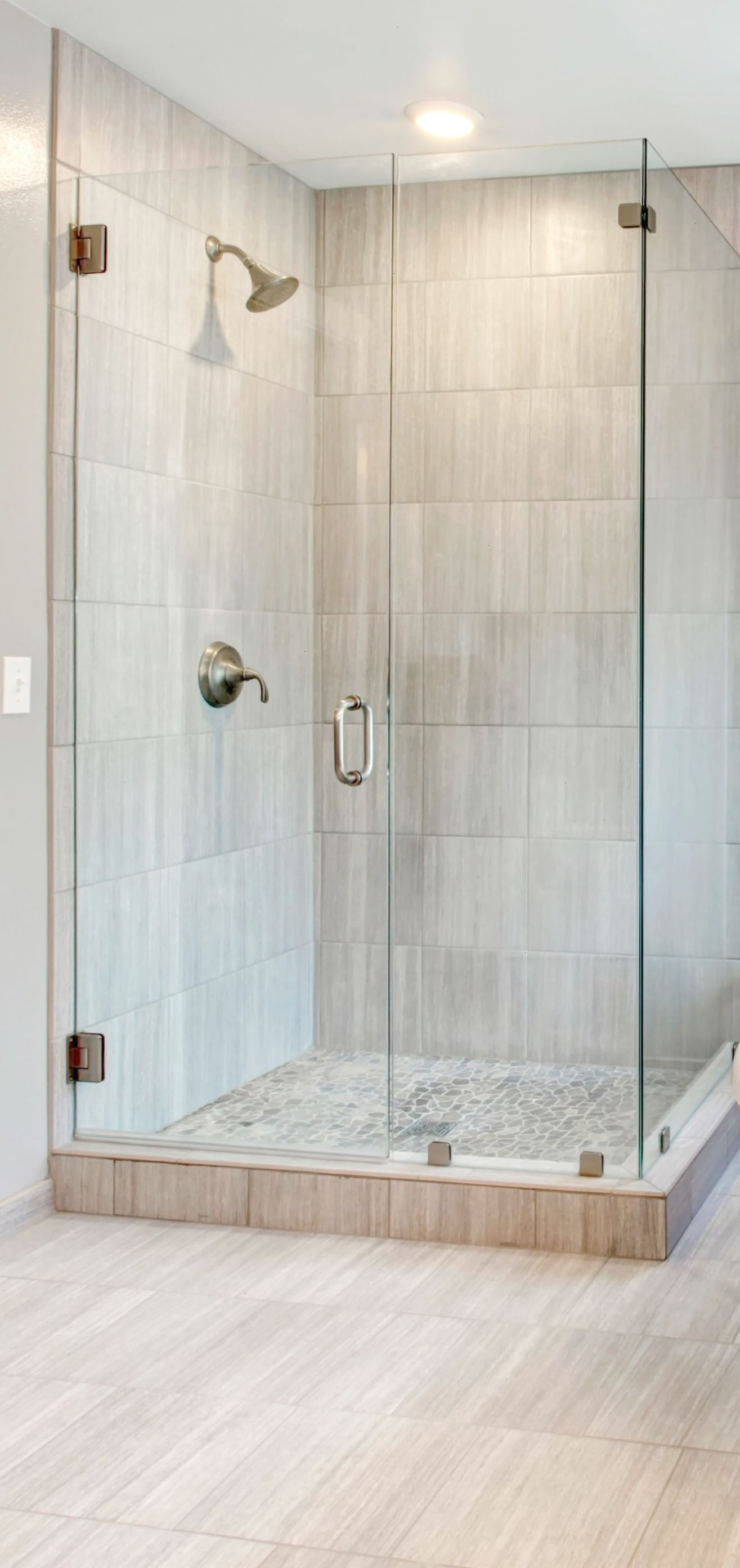 Showers Corner Walk In Shower Ideas For Simple Small Bathroom