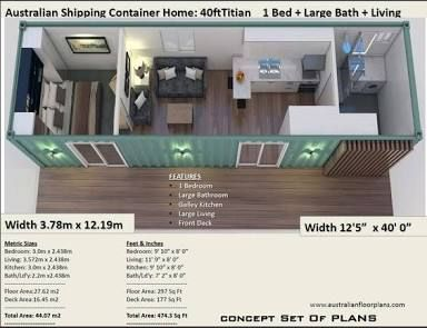 11 Floor Plans For Shipping Container Homes