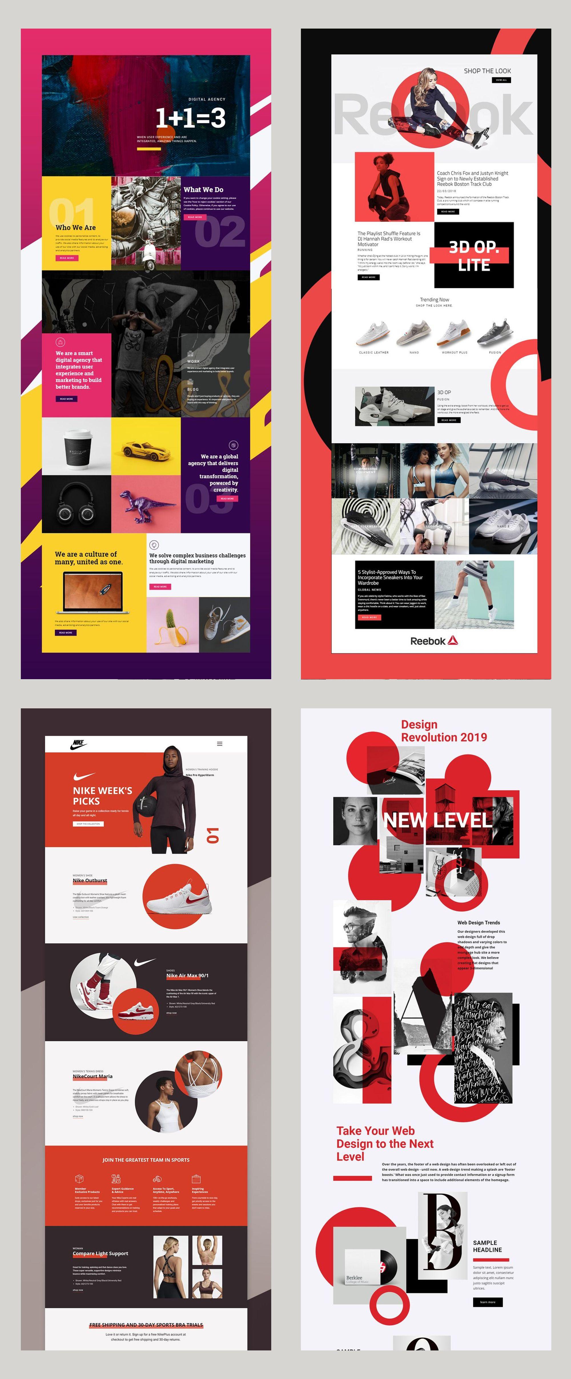 Free Templates By Nicepage Builder Diy Website Design Website Design Trends Amazing Website Designs