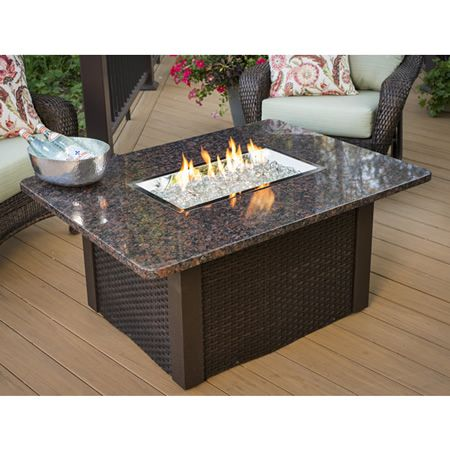 Attirant Grandstone Crystal Fire Pit Table Brwn Wicker  Granite Top |  WoodlandDirect.com: Outdoor Fireplaces: Fire Pits   Gas #LearnShopEnjoy