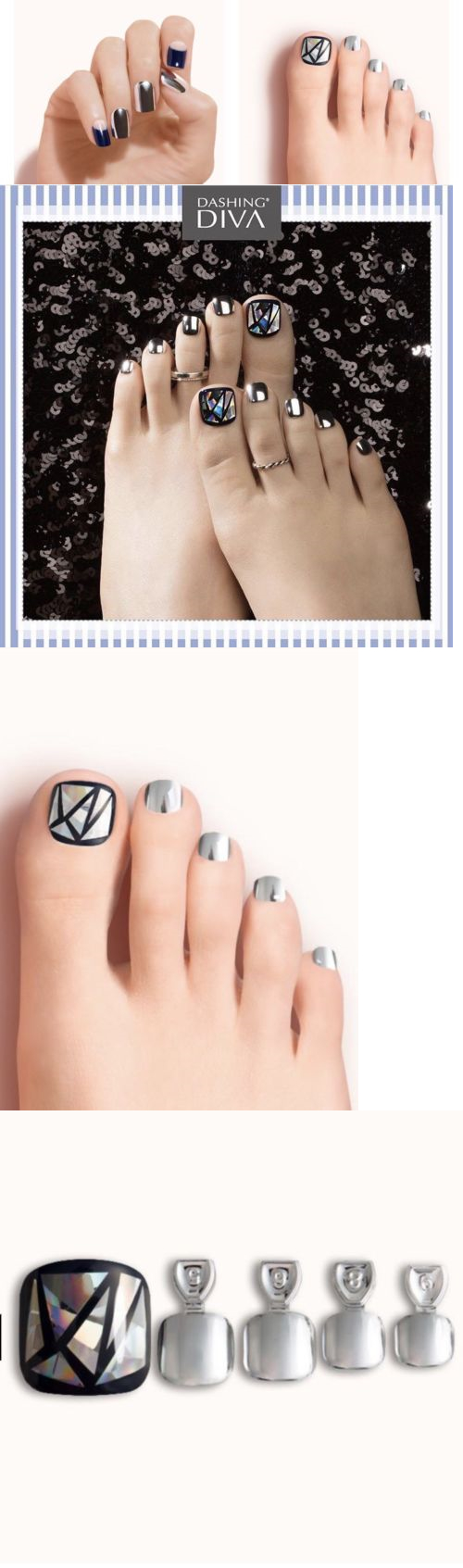 Press-On Nails: Dashing Diva Press On Nails Toe And Finger Nails ...