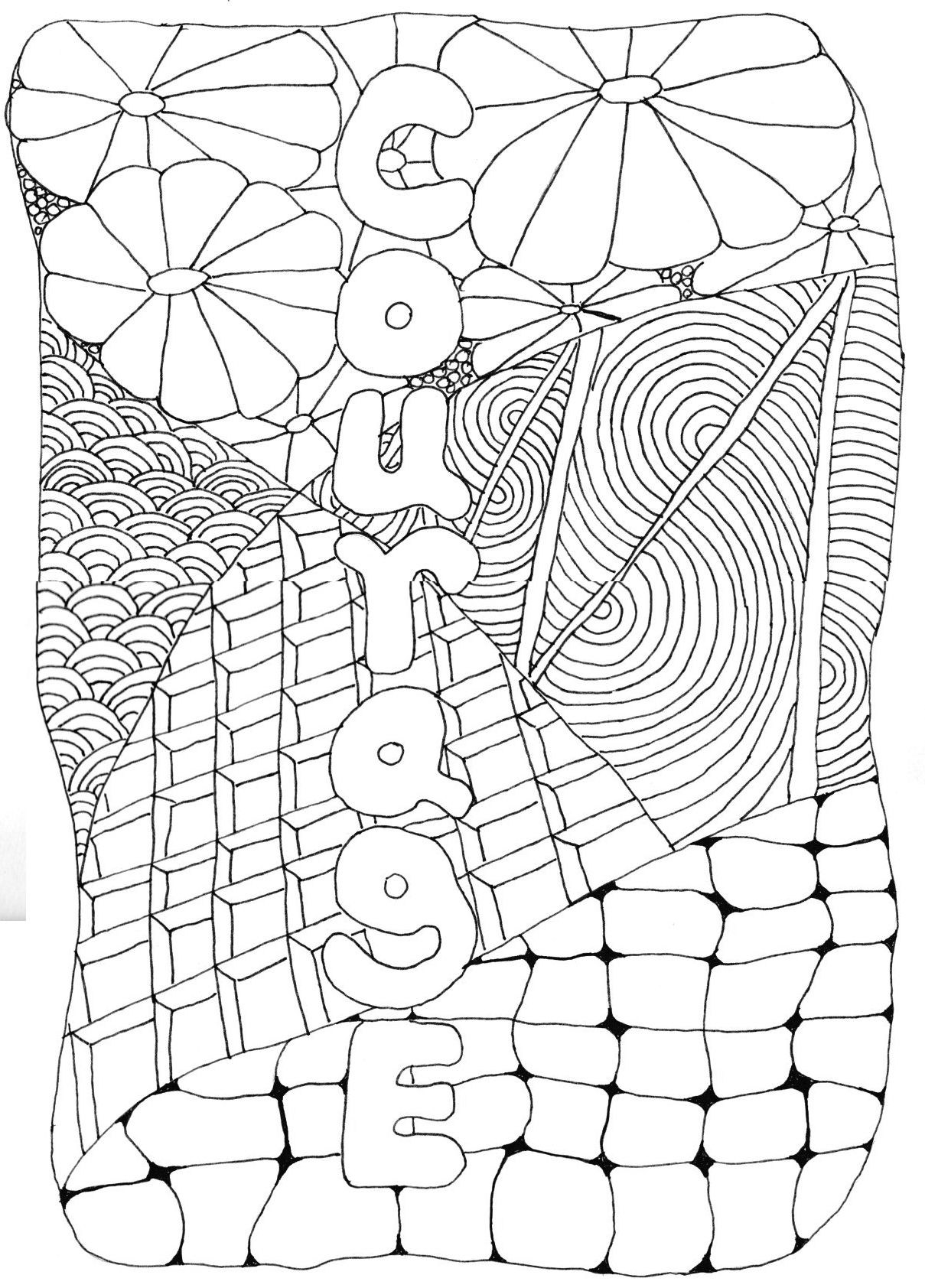 Adult Coloring Page Courage