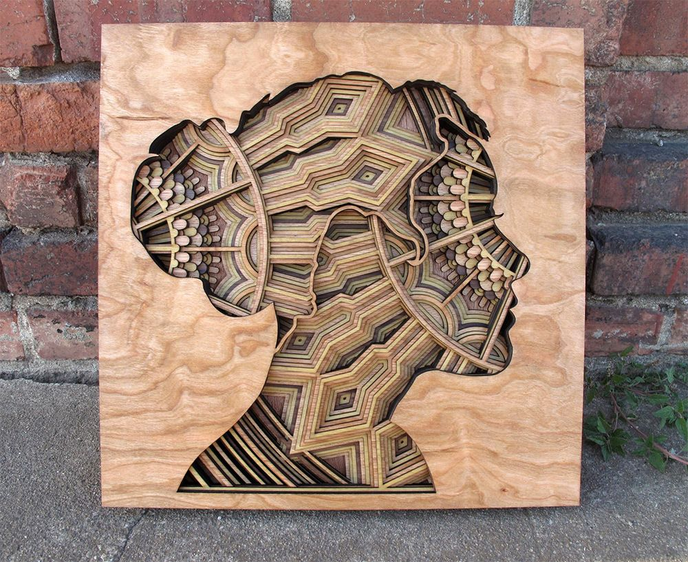 Laser background galleryhip com the hippest galleries - New Laser Cut Wood Relief Sculptures By Gabriel Schama