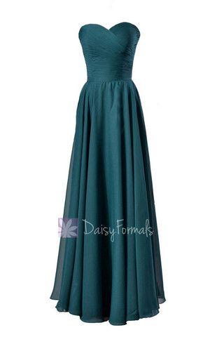 Dark Teal Chiffon Bridesmaid Dresses,Teal Bridesmaid Dresses Cheap ...