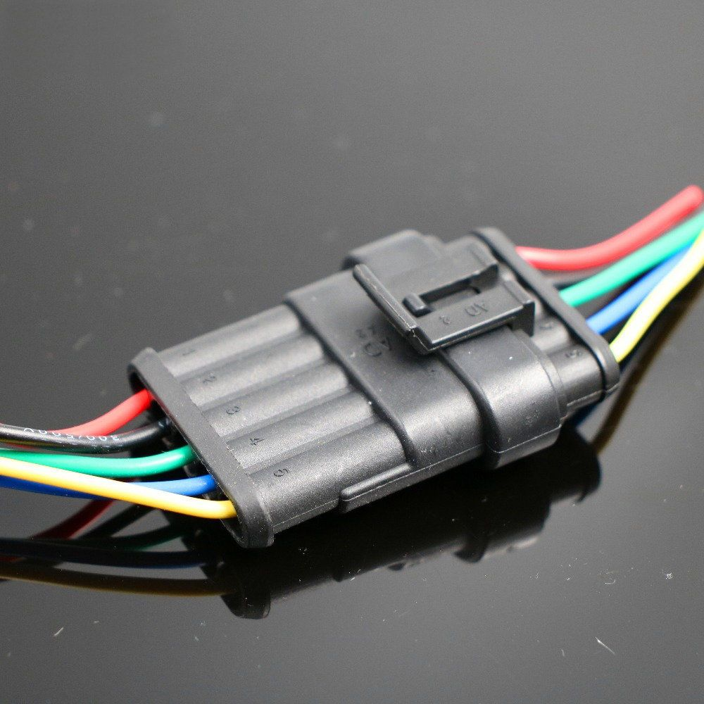 Pin On Waterproof Automotive Marine Electrical Wire Connector