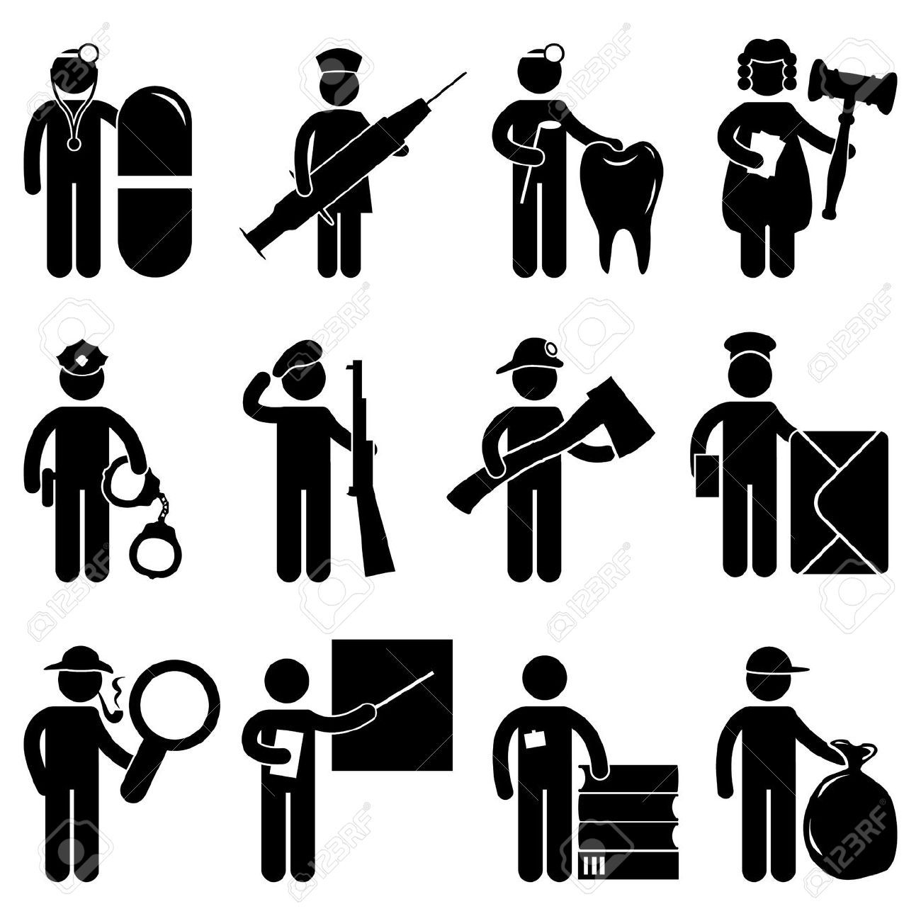 Stock Vector Physical therapy, Pictogram, Stick figures
