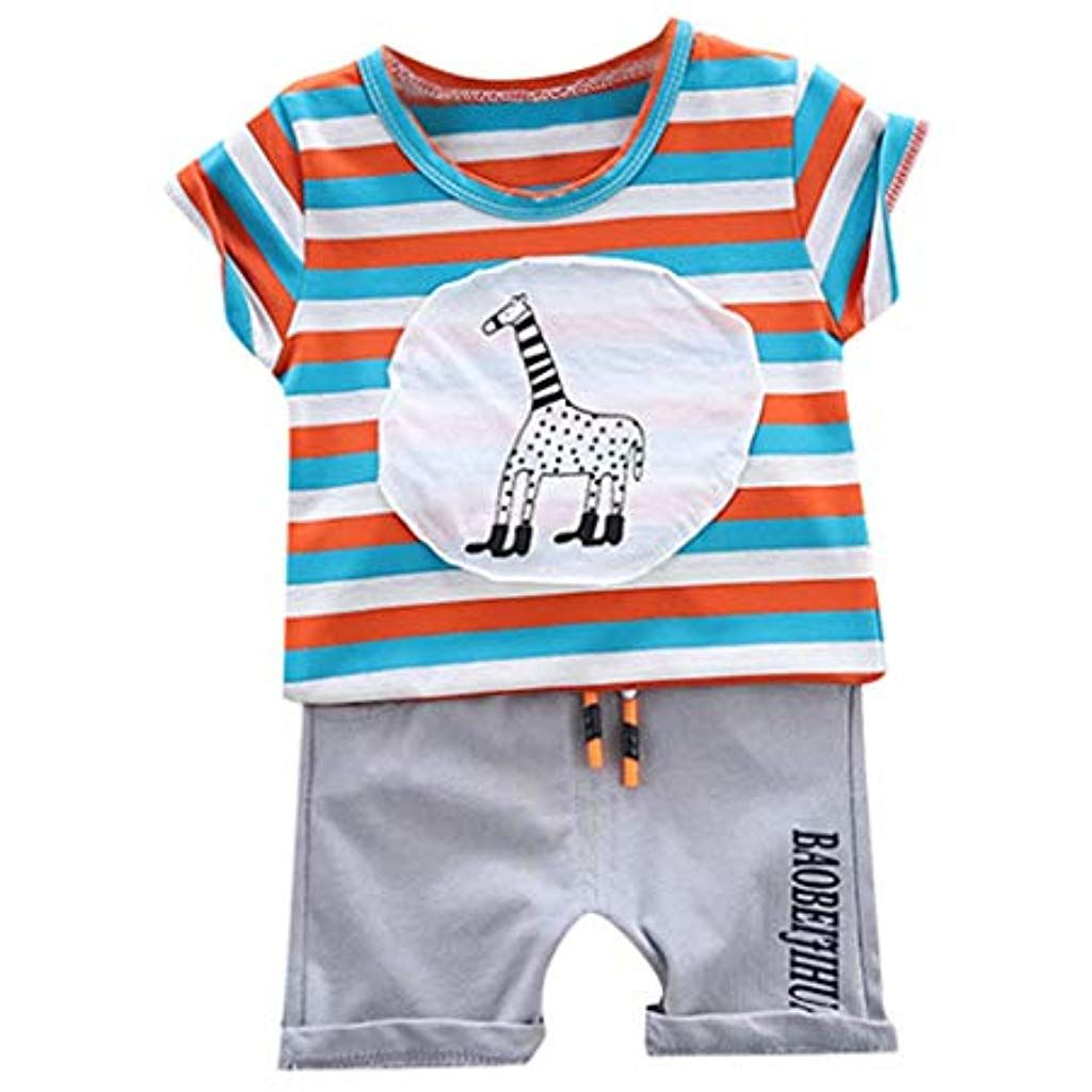 Shorts Outfits T-Shirts Sommer Hose Anzug Baby Jungen Kleinkind Tops