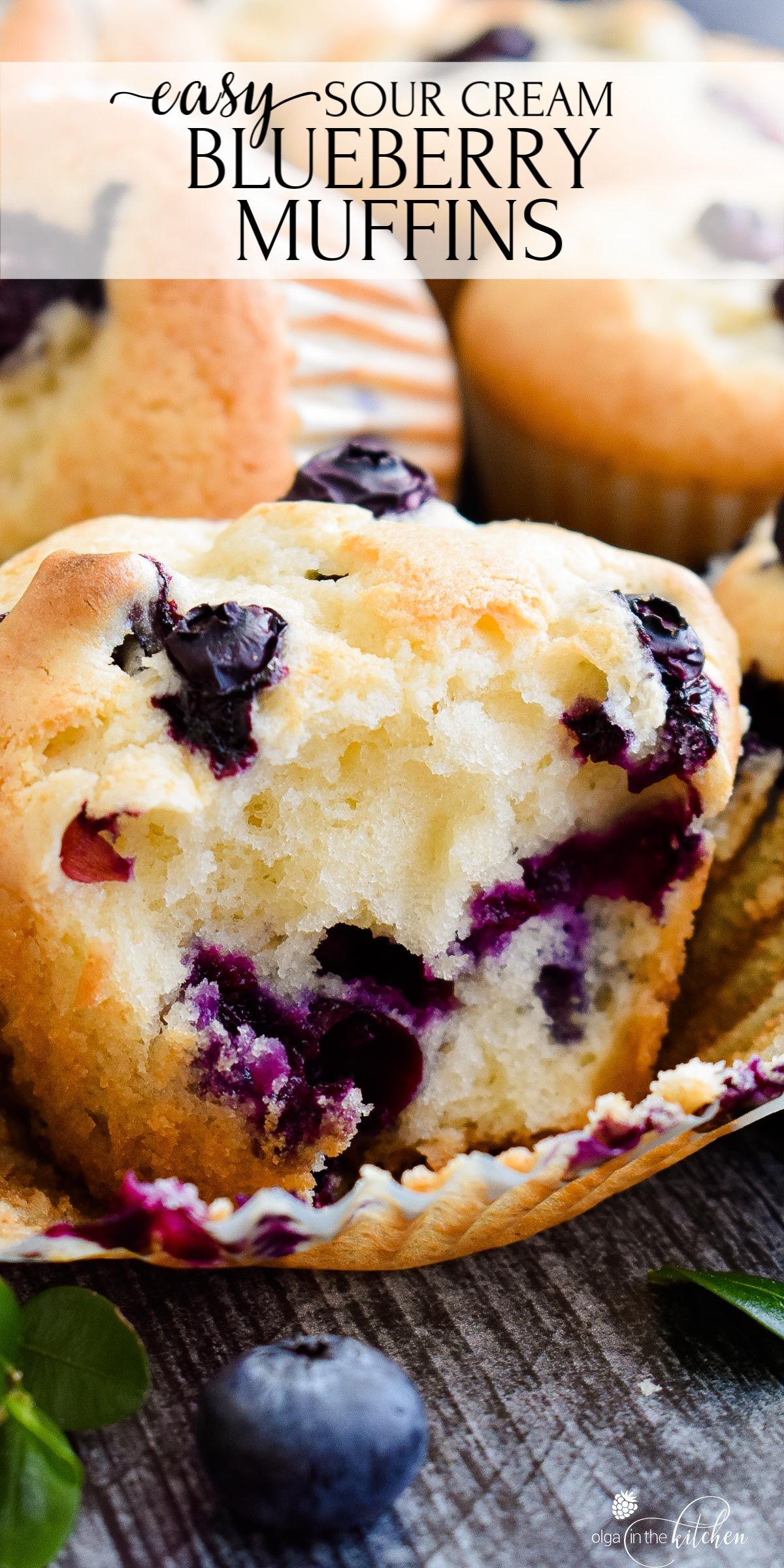 Sour Cream Blueberry Muffins Olga In The Kitchen Recipe In 2020 Muffin Recipes Blueberry Sour Cream Recipes Blueberry Recipes