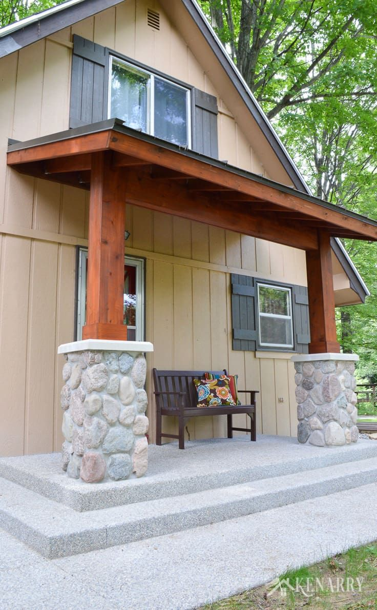 Craftsman Style Front Porch For An A Frame Cottage Front Porch Addition House With Porch Porch Addition
