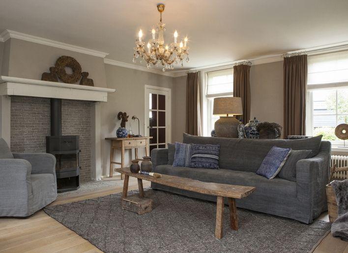Landelijke bank chendo woonland living room pinterest bank landelijk wonen en interieur - Woonkamer met hoekbank ...