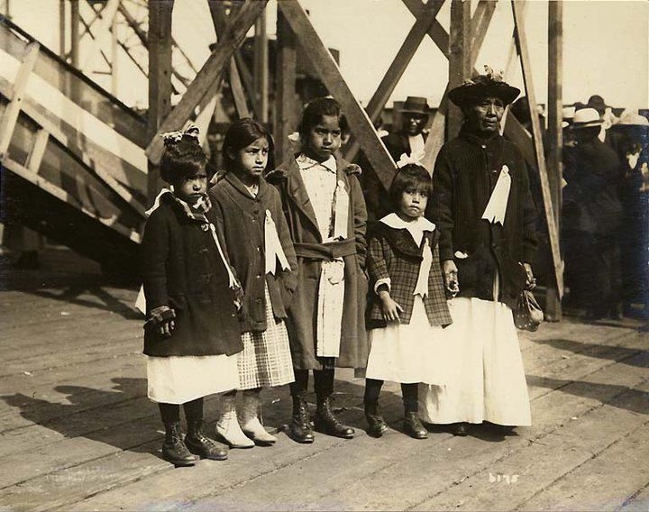 Snoqualmie guests at the lauching of the steamship U.S.S. Snoqualmie in Seattle, Washington - 1919