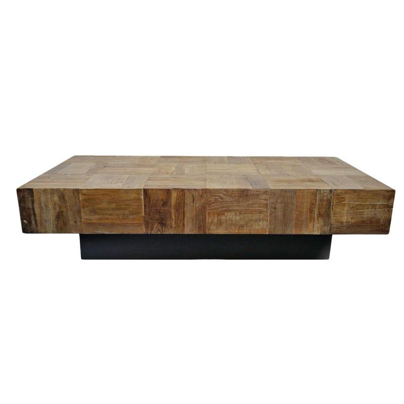 Modern Block Parquet Coffee Table In 2020 Coffee Table Coffee Table Farmhouse Table
