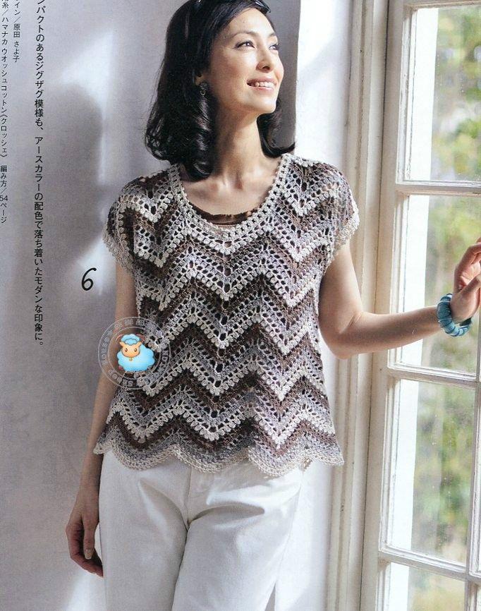 Maravilhas do Crochê: Blusinhas de Verão_Modelo Japonês | Proyectos ...