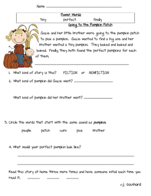 Great free printable fluency passages for first grade. | 1st Grade ...
