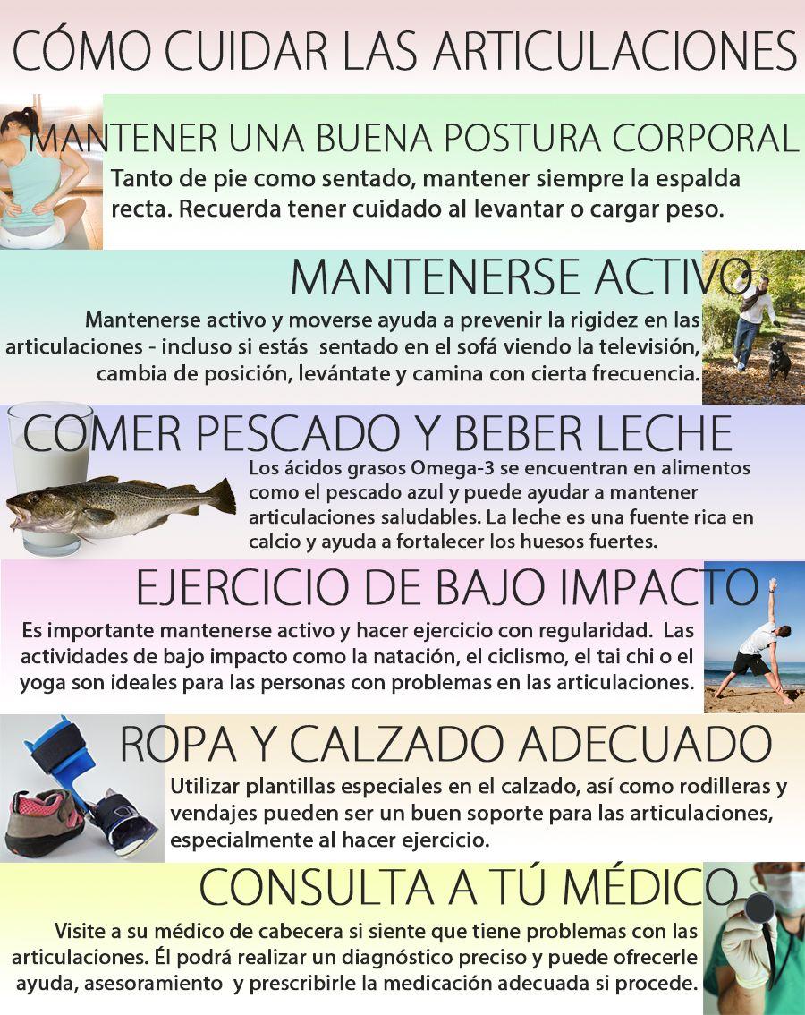 Infografia Y Consejosdesalud Guía Práctica Para Cuidar Las Articulaciones Salud Consejos Para La Salud Infografia Salud