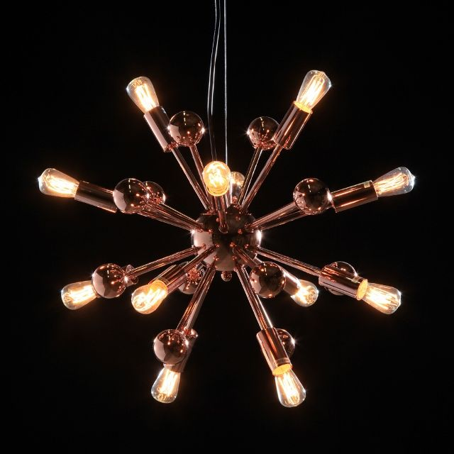 Large Copper Sputnik Retro Chandelier Ceiling Light 2