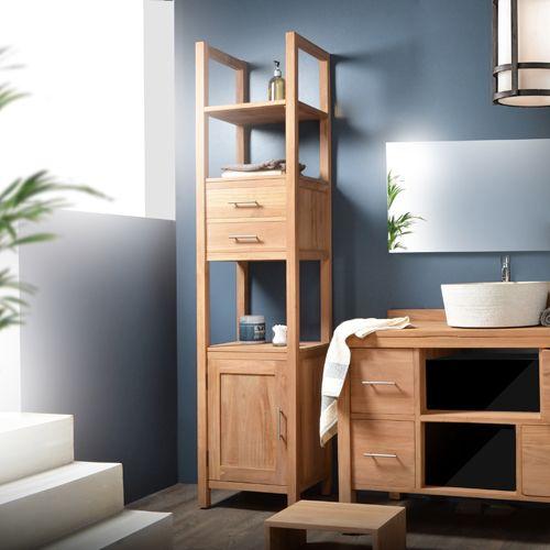colonne en teck brut 190 galyno teck brut et salle de bains. Black Bedroom Furniture Sets. Home Design Ideas