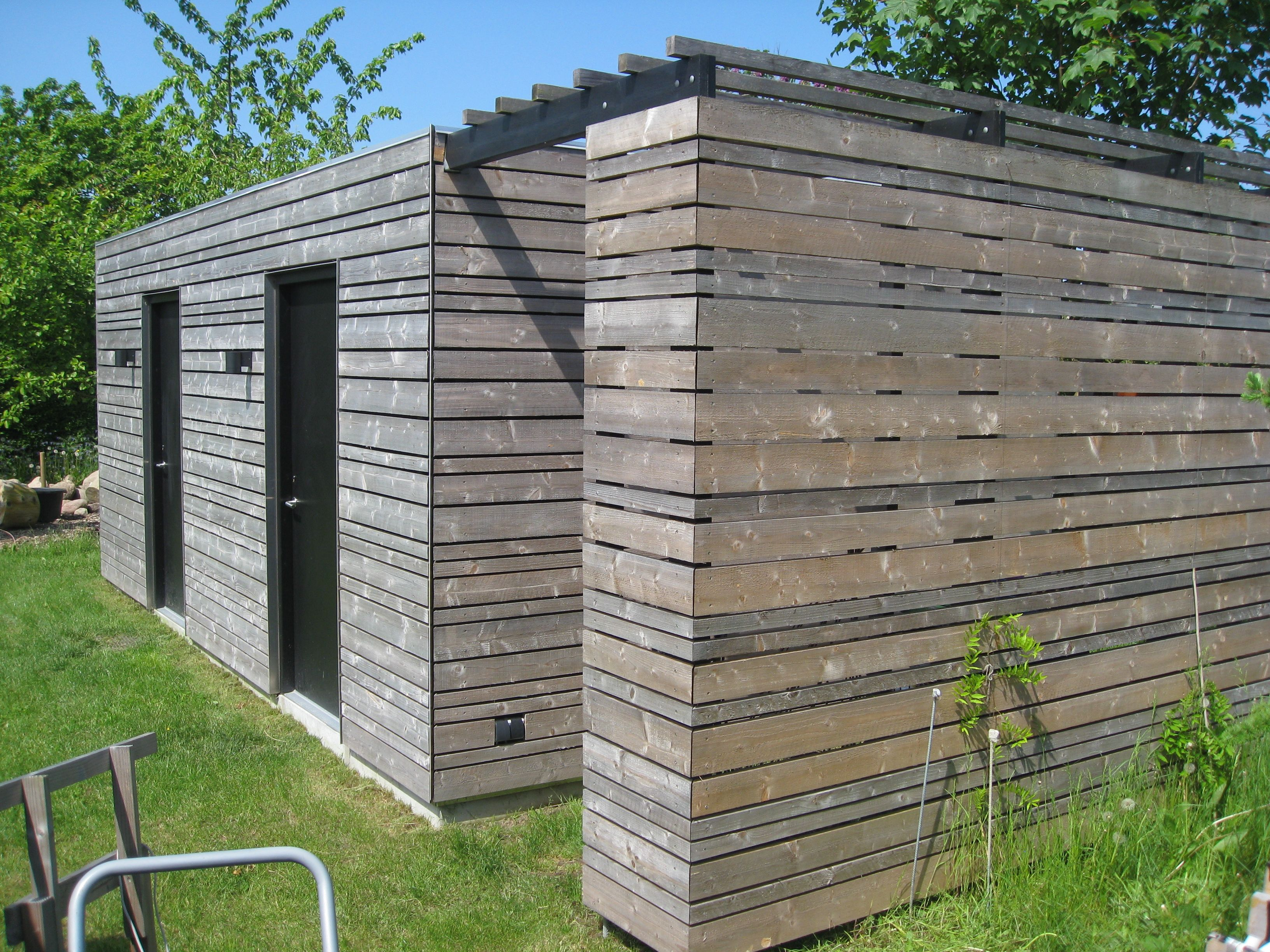 Haus design eingangstor workshop  shed insulated wooden construction untreated spruce