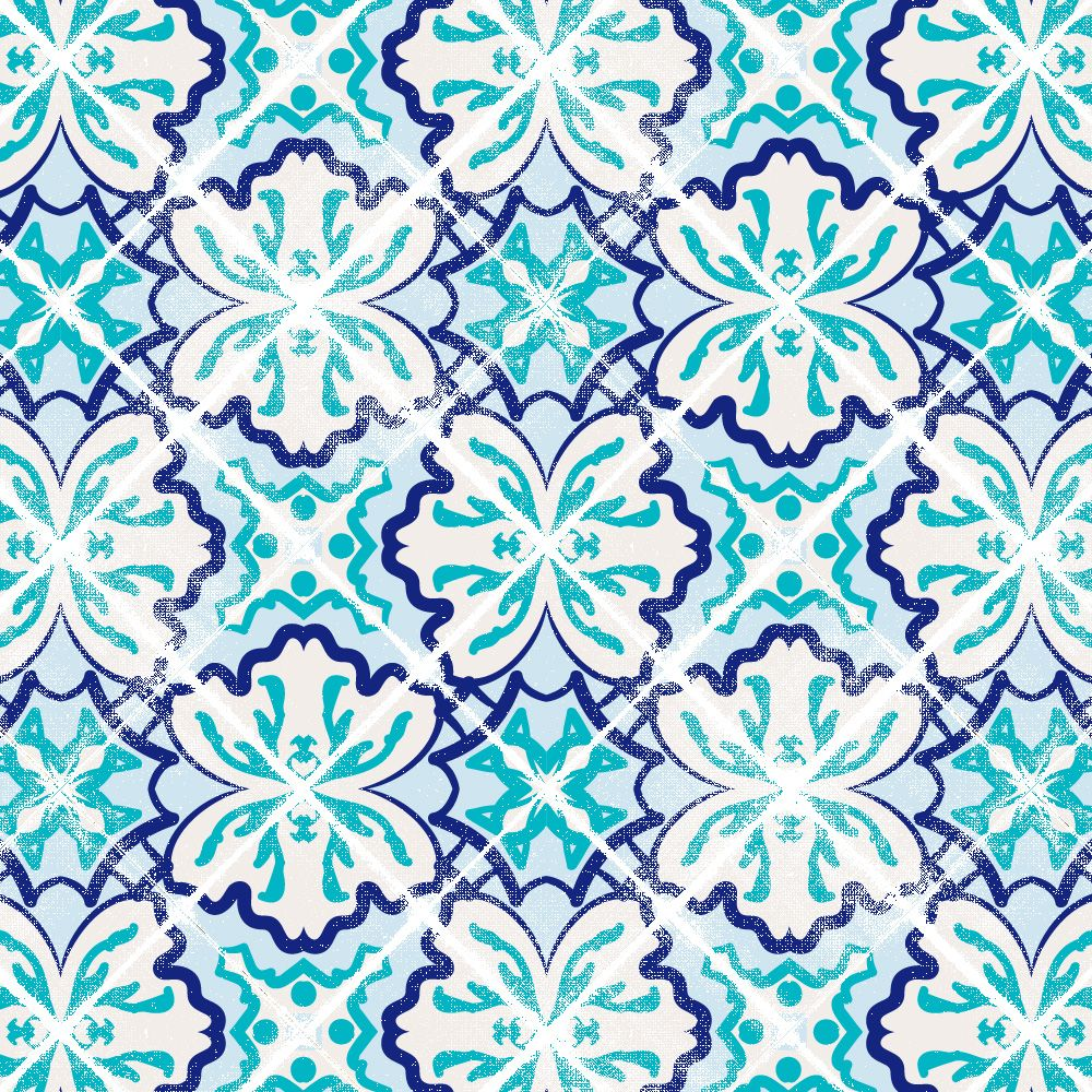 Traditional Azulejo by Summer Voelker | Patternmash