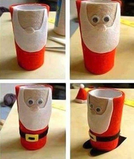 Manualidades Navidad Con Rollos De Papel Fotos Ideas Para Ninos - Manualidades-con-rollos-de-papel-higienico-para-navidad