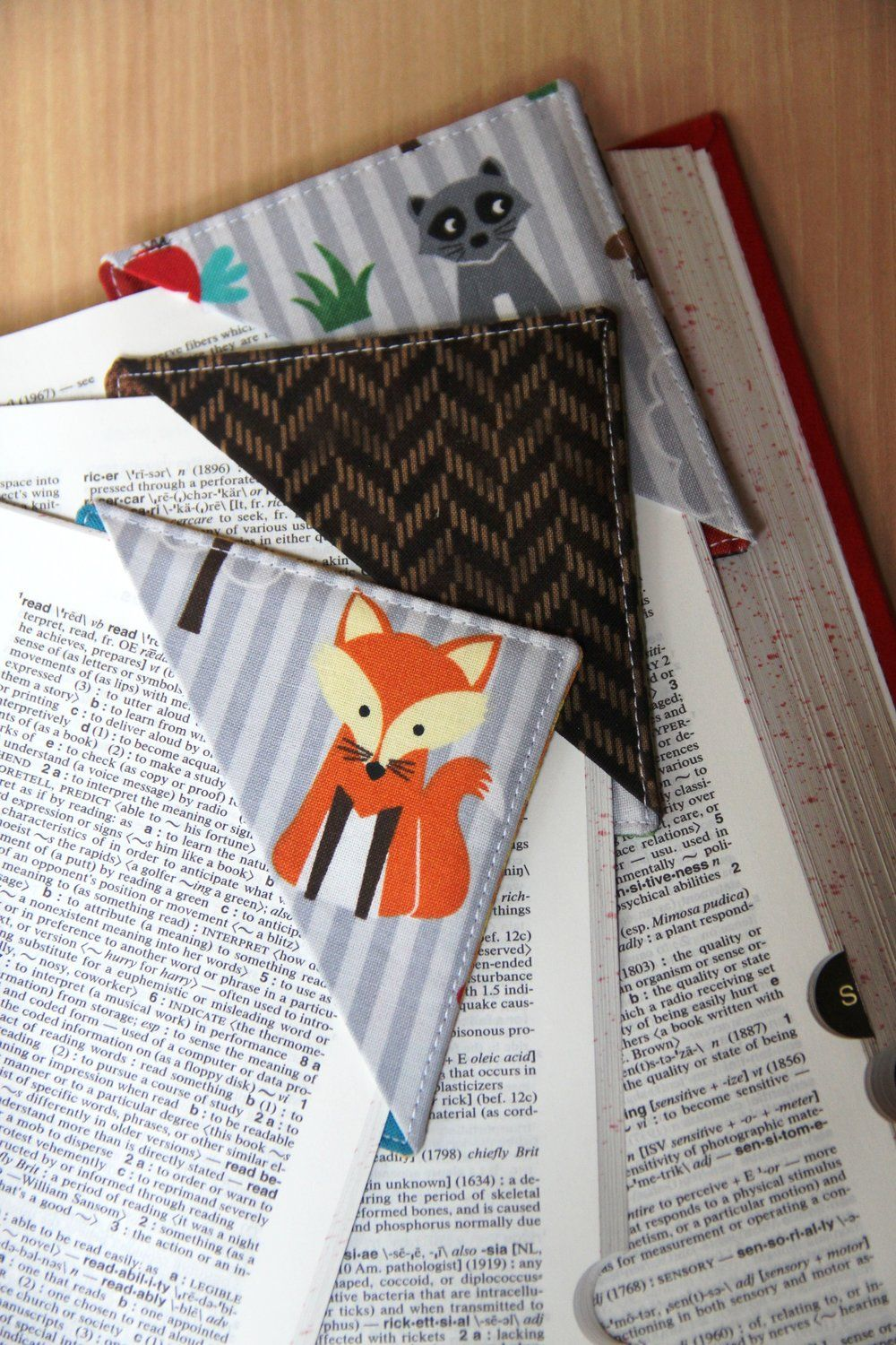 Quick Fabric Corner Bookmarks — Crafty Staci