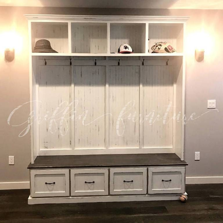 THE GEORGIA 2 Section Mudroom Bench