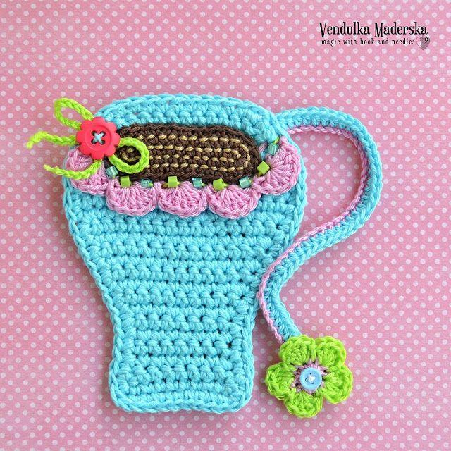 La taza de café montaña - patrón de crochet por VendulkaM   apliques ...