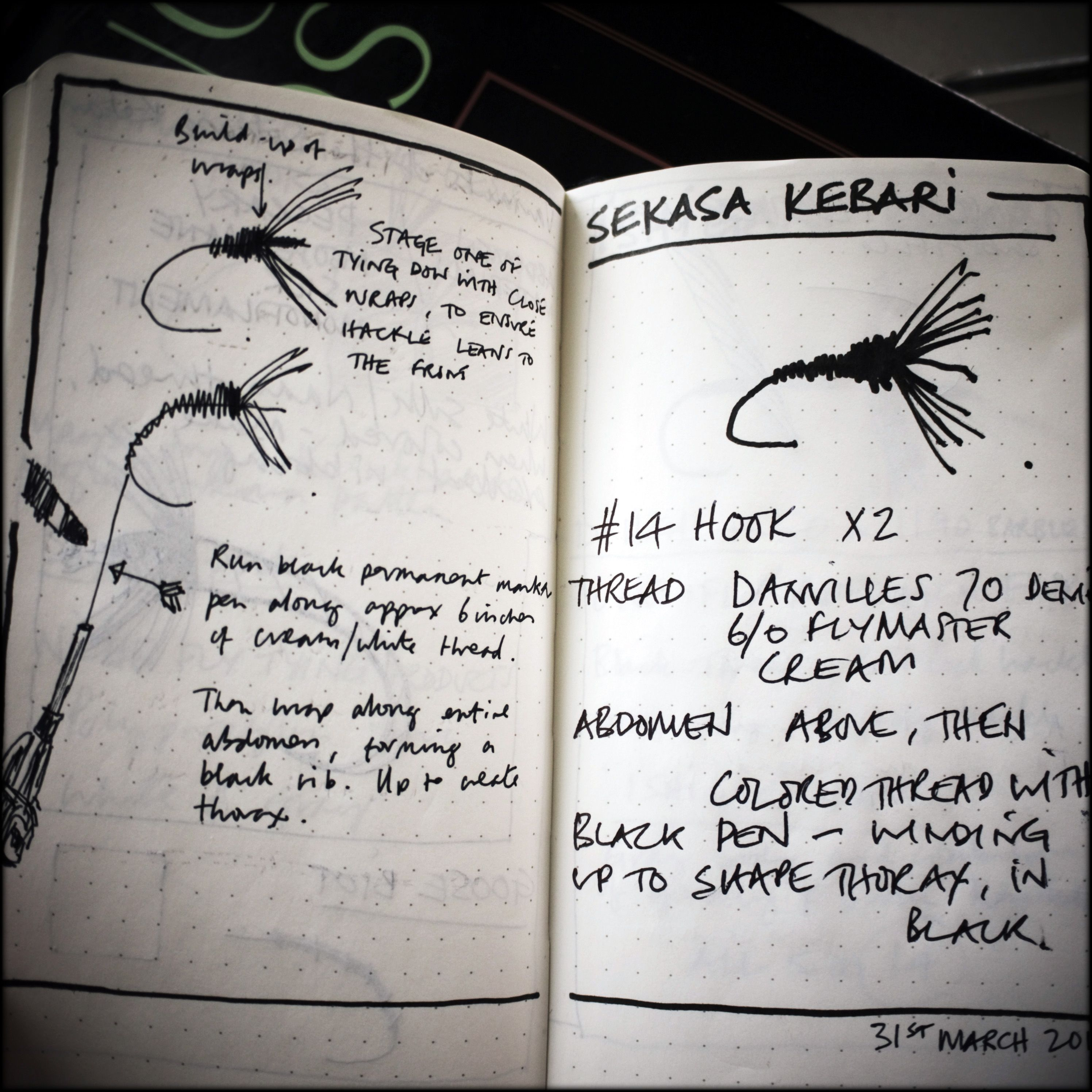 Fly Tying Notes This Is Cool Detail Must Remember To Keep A Journal Tenkara Fishing Fly Tying Fly Tying Patterns