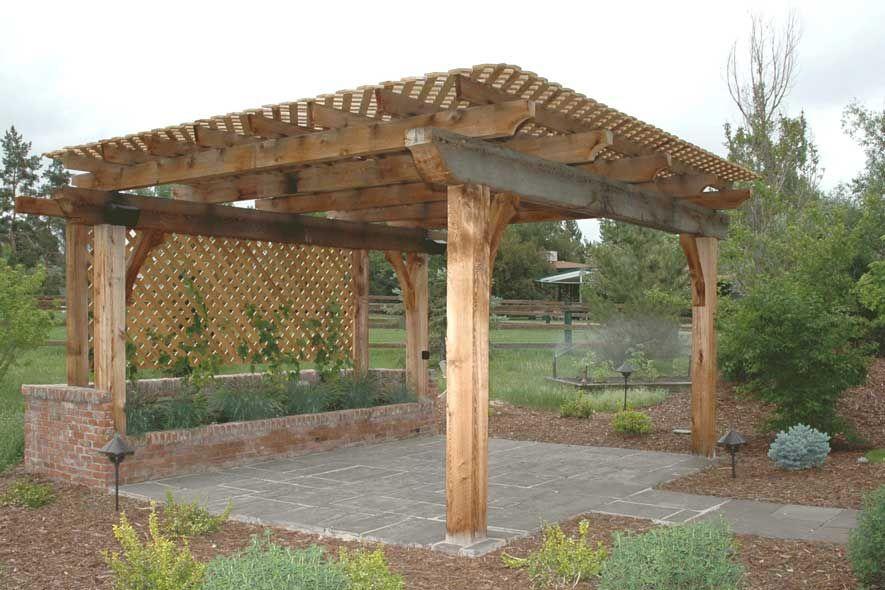Patio Designs With Pergola   flagstone patio cedar pergola ...