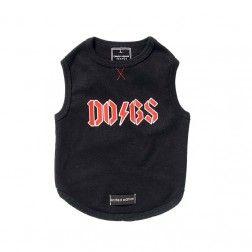 595fda9b4c4a3 Camiseta Rock Negro Para Perro