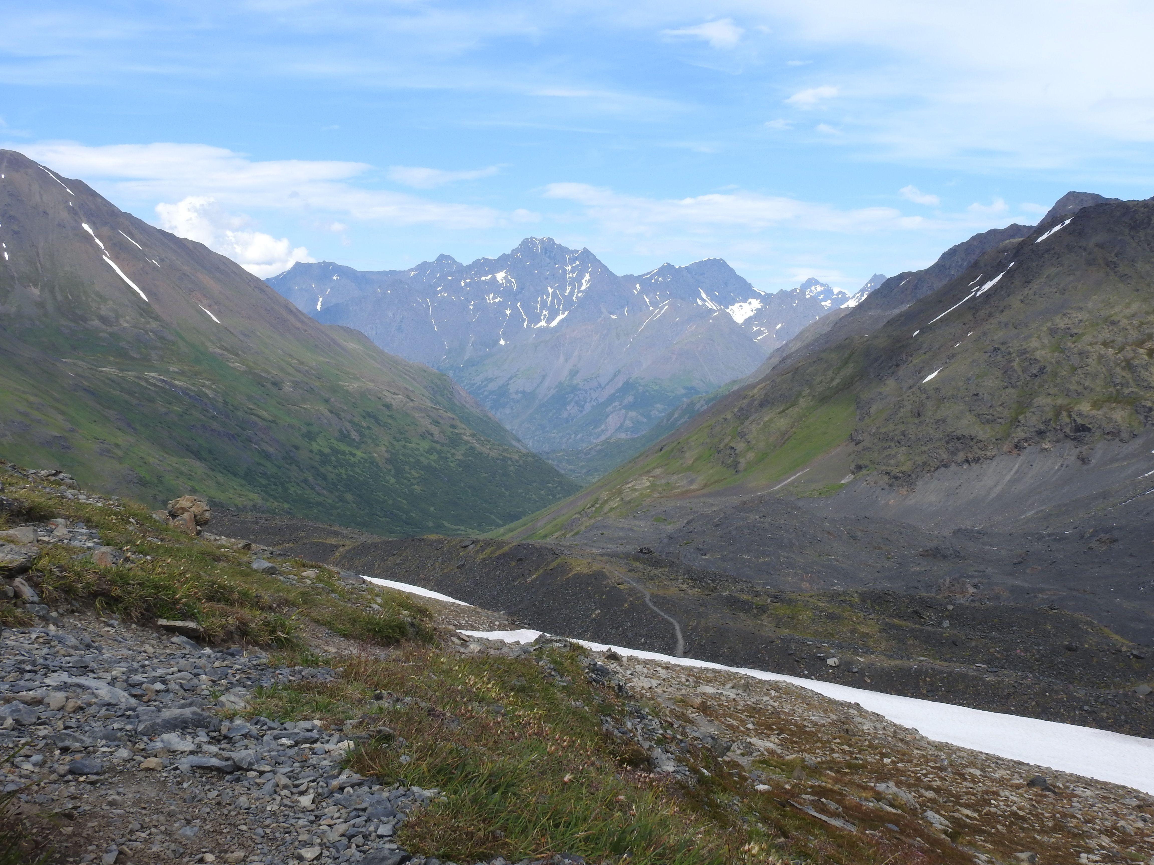 Girdwood Crow Pass Trail,  Chungah Nat. forest , Alaska, PLeinAirEnVR