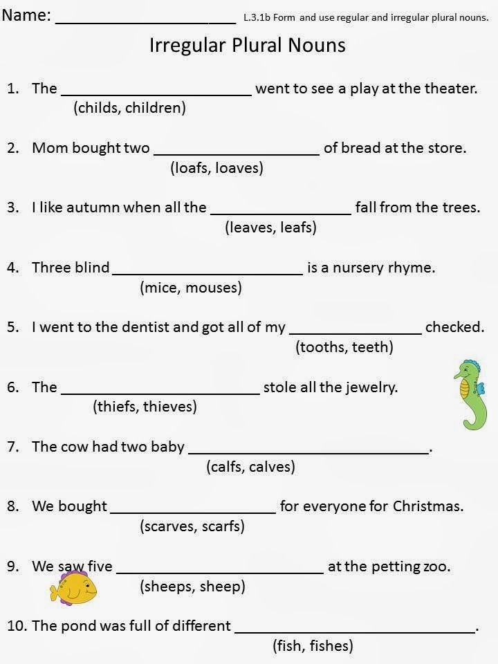 Irregular Plural Nouns Pack | Third Grade Think Tank | Pinterest ...