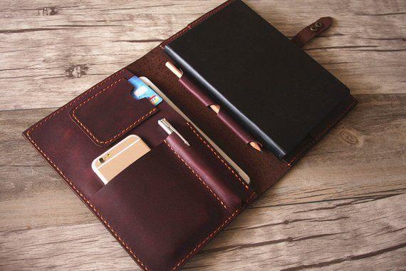 iPad Case, Leather Portfolio Apple pencil Case, Notebook
