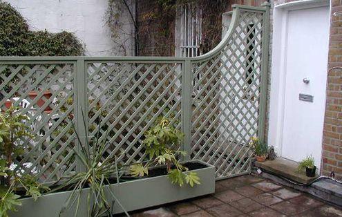 Trellis Garden Fence And Planter Is A Soft Lichen Grey Green   The Garden  Trellis Company