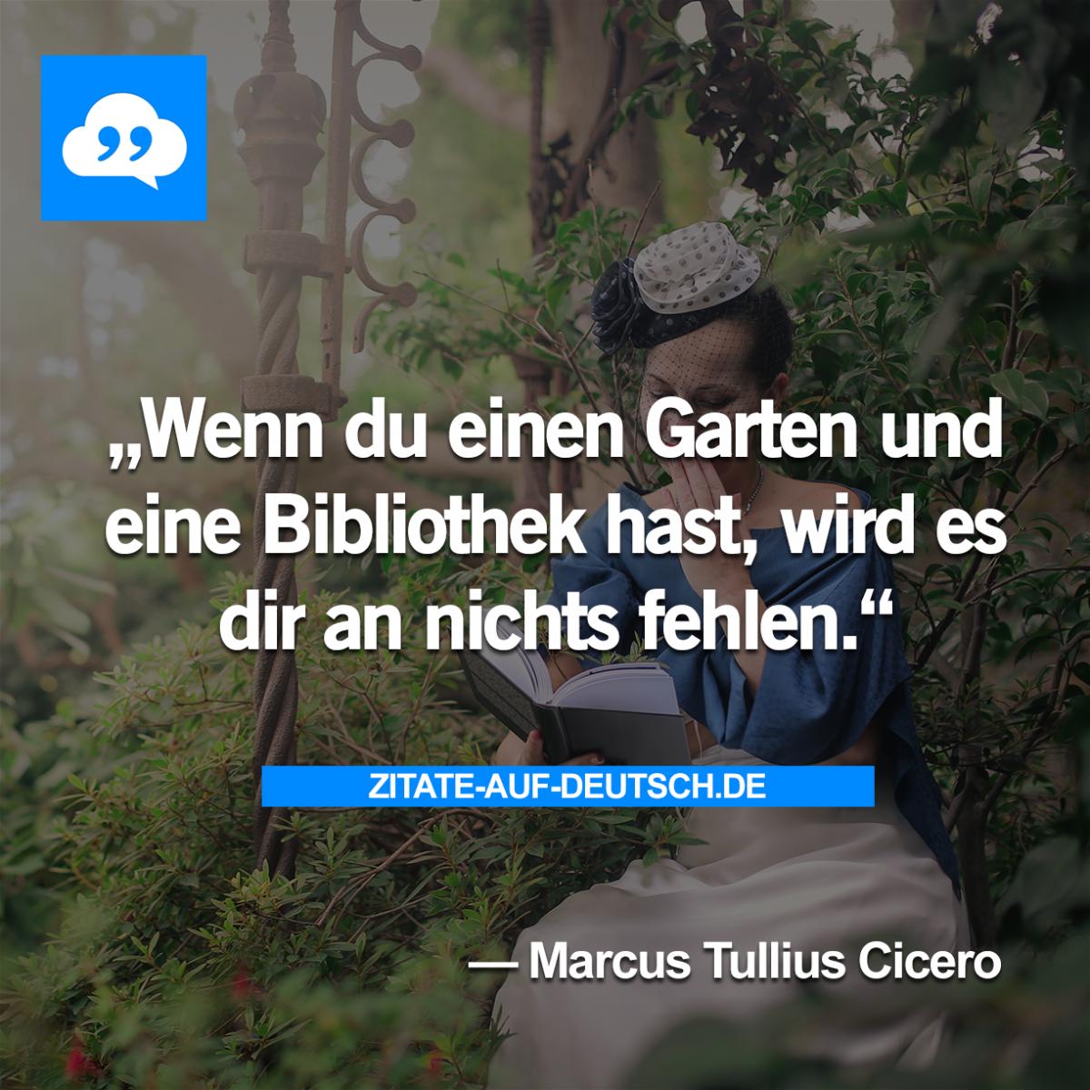Fresh  Bibliothek Garten Spruch Spr che Zitat
