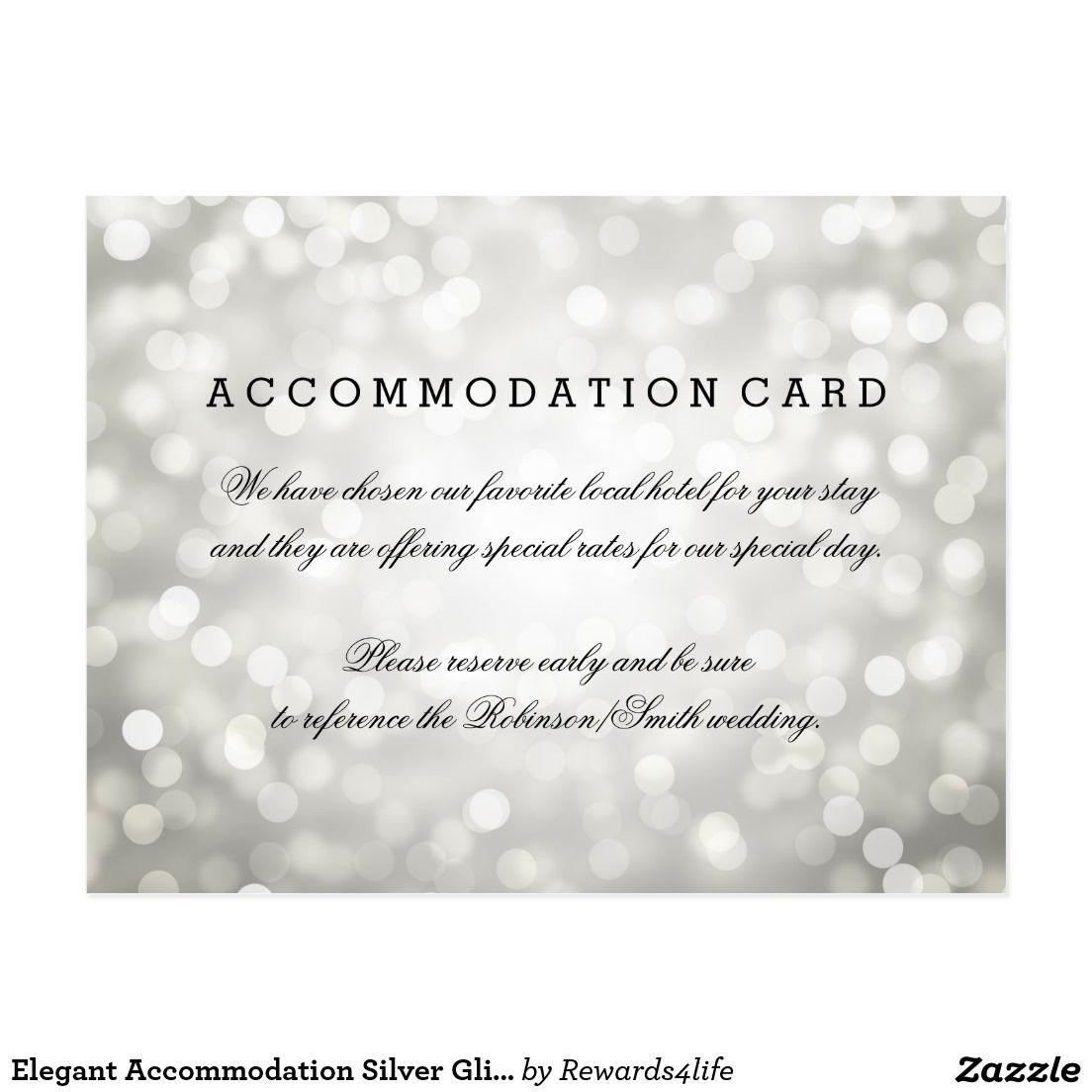Elegant Accommodation Silver Glitter Lights Postcard Silver